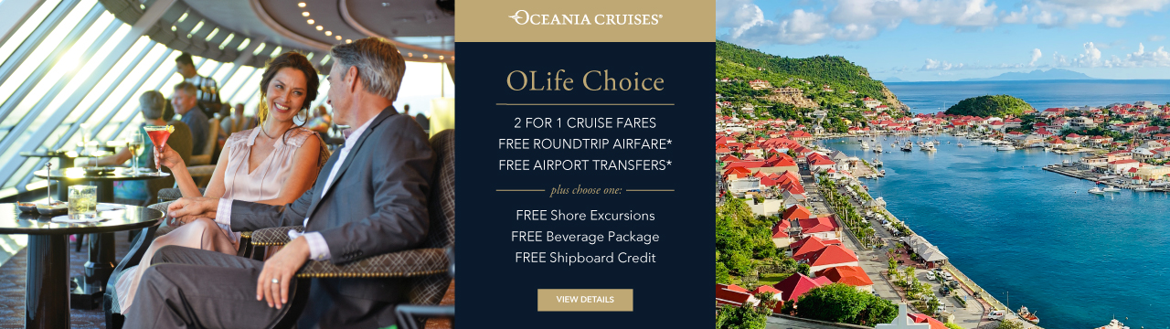 Oceania OLife Choice graphic with offer details and 2 photos
