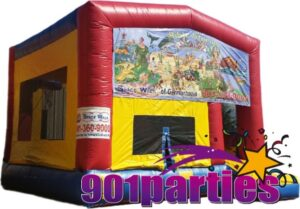 $225 - $25 DEPOSIT - 8' FOOT NOAHS ARK SINGLE LANE WATER SLIDE BOUNCER COMBO RENTAL IN MEMPHIS