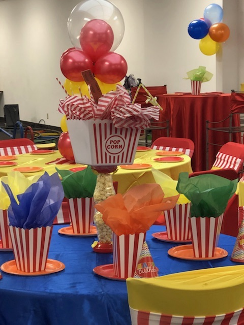 SAMPLE KID'S CARNIVAL THEME BIRTHDAY PARTY DECORATIONS IN MEMPHIS