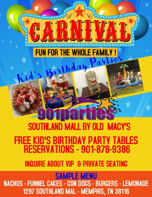 901PARTIES DINING & CATERING FREE KID'S BIRTHDAY PARTY
