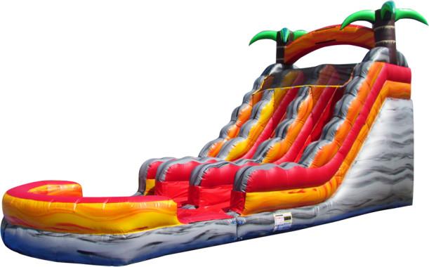 $375 - 22' FOOT DUAL LANE LAVA RUSH WATER SLIDE W/LANDING RENTAL WITH POOL IN MEMPHIS