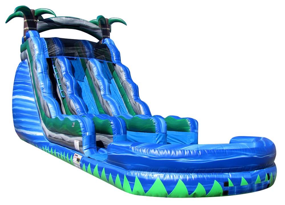 $375 - 24' FOOT DUAL LANE TROPICAL TSUNAMI DUAL LANE WATER SLIDE RENTAL IN MEMPHIS