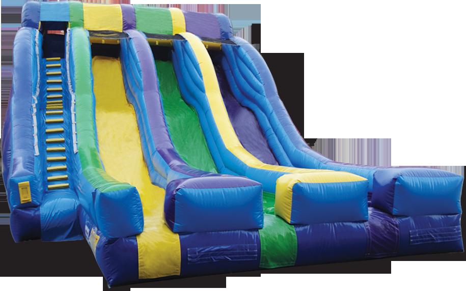 $375- 18' FOOT TRIPLE LANE WATER SLIDE W/LANDING RENTAL