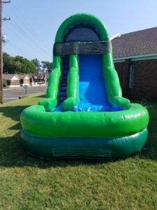 $275- 18' FOOT SINGLE LANE BLUE & GREEN WATERSLIDE RENTAL IN MEMPHIS