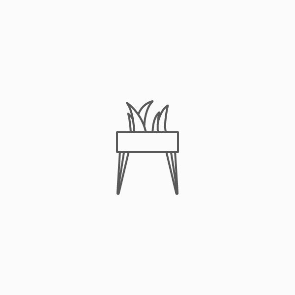 Planter with Hairpin Legs Icon