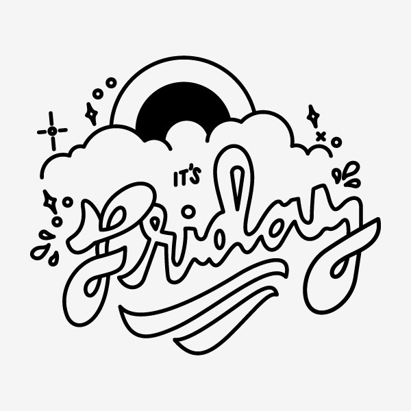 It's Friday Vector Typography Design