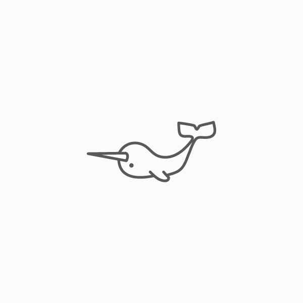 Narwhal Thin Line Icon