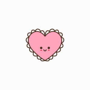 Cute Heart Doily Flat Icon