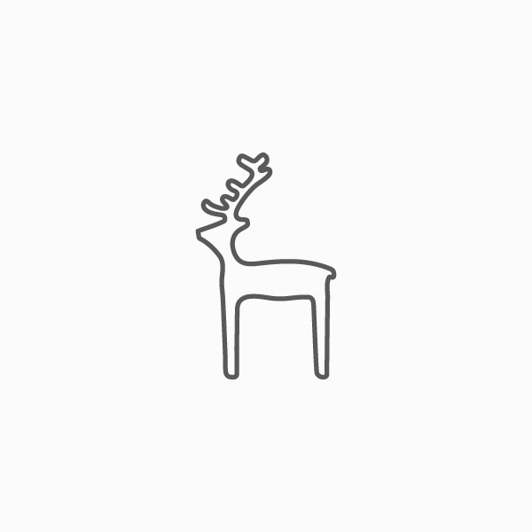 Reindeer Thin Line Icon