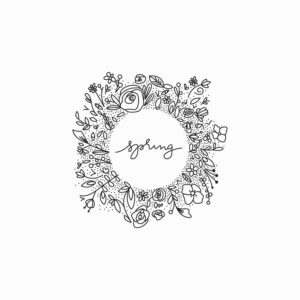 Hand drawn vector flower wreath illustration