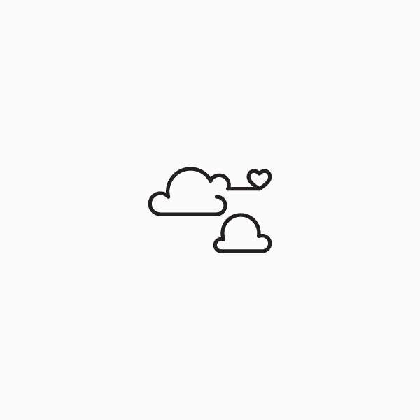 Love cloud with heart icon