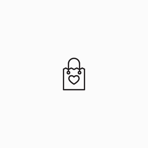 Shopping bag with heart icon