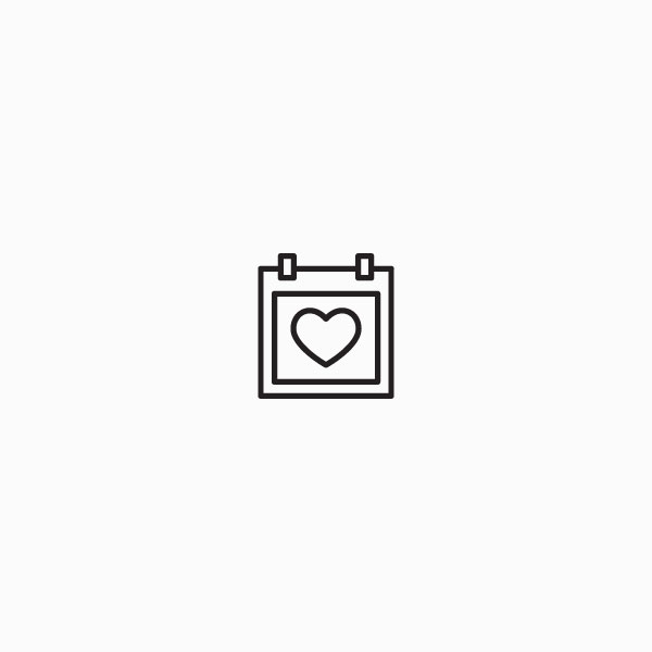Calendar icon with heart