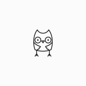 Owl icon outlined
