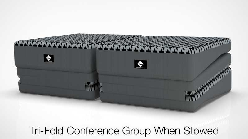 Tri-Fold Conference Group Sleep System Stowed