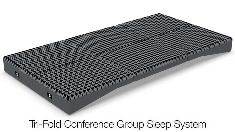 Tri-Fold Conference Group Sleep System