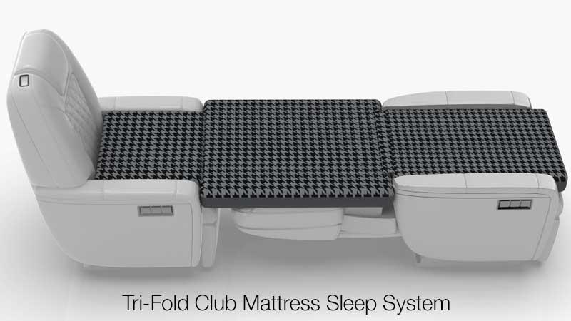 Tri Fold Club Mattress