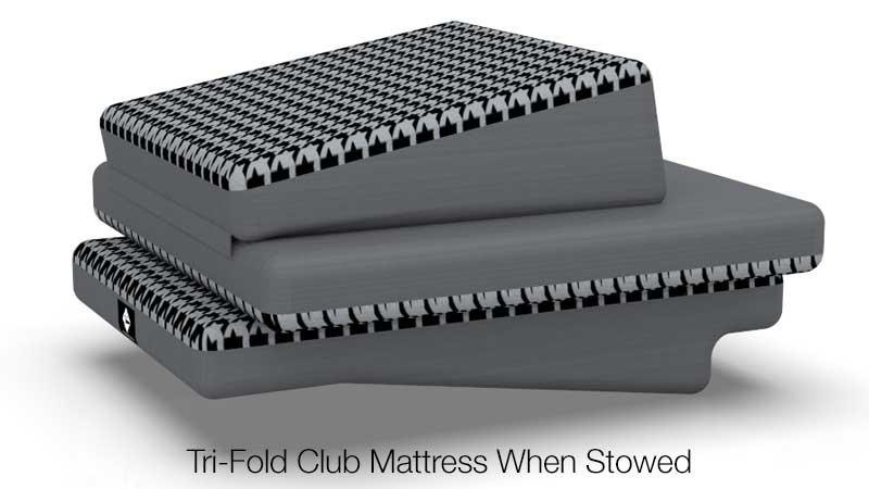 Tri Fold Club Stowed