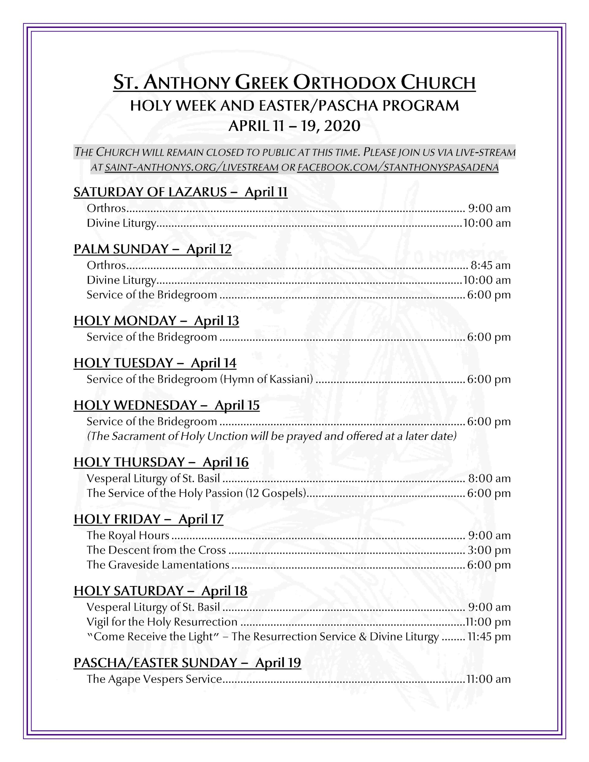 2020 - Holy week schedule one page-page-001
