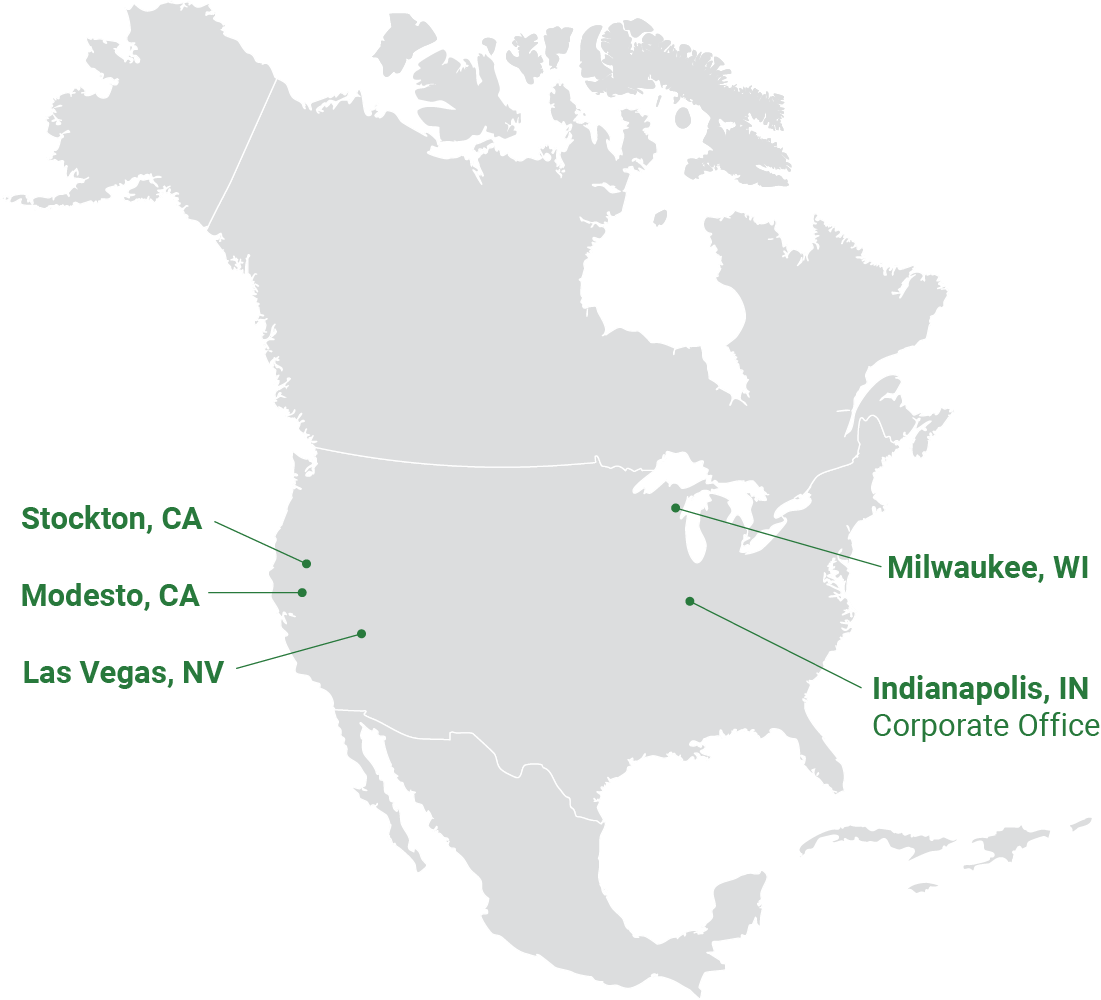 North American Locations Map