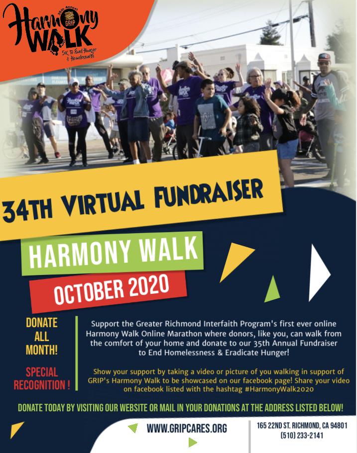 Introducing GRIP's 1st ever Virtual Harmony Walk!!