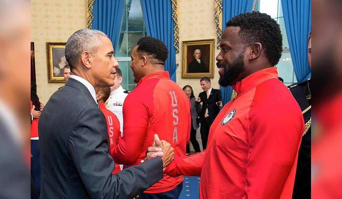 Kibwe Johnson and Barak Obama