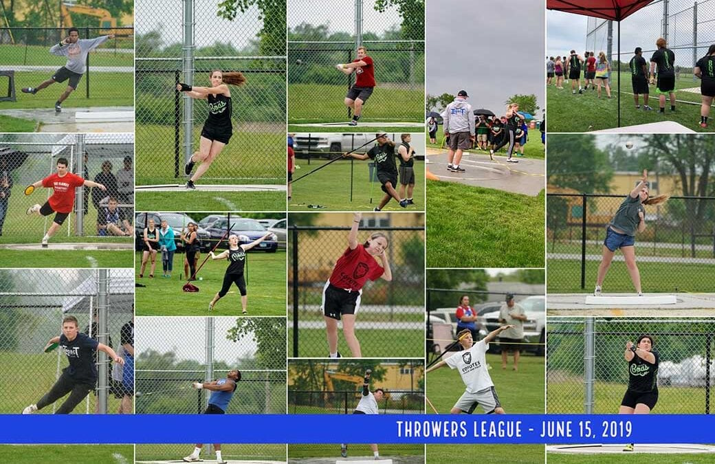 THIRD THROWERS LEAGUE MEET IS A HIT AT HAMMERMAN FIELD