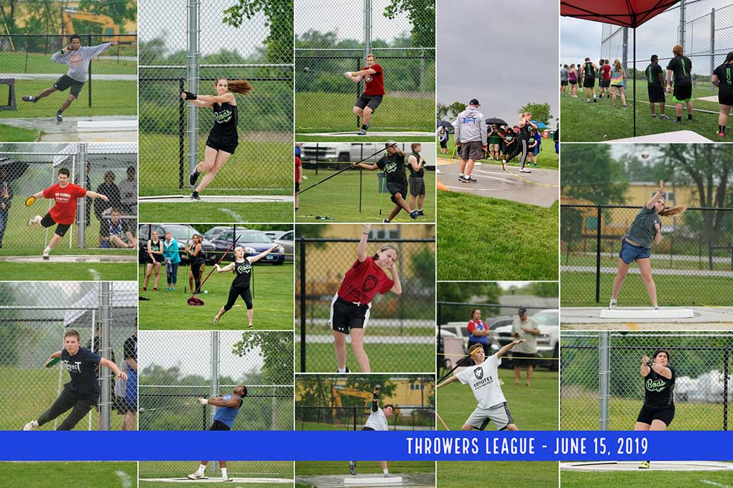 Throwers League News June 15 Meet