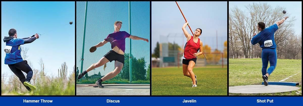 throwers league meets hammer shot put discus javelin