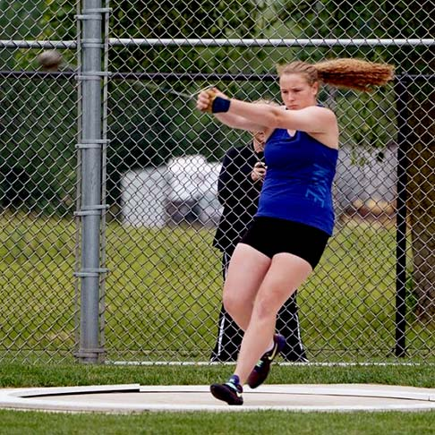 Young Hammer Thrower at Hammerman Field