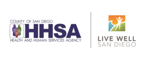 County of San Diego HHSA and Live Well Logo