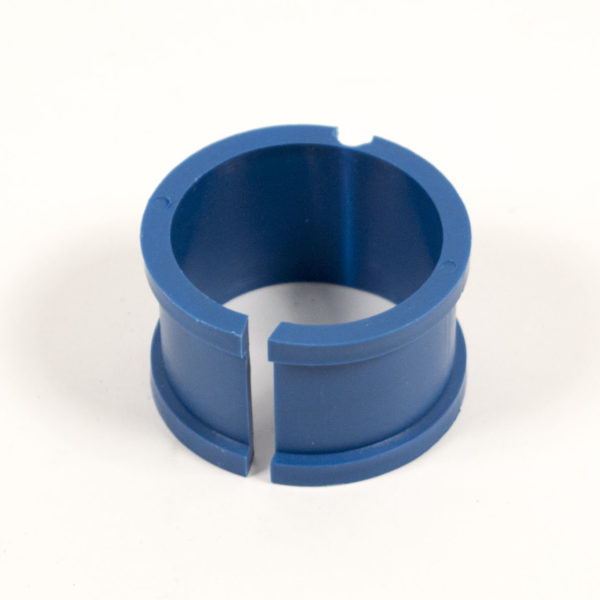 Hex Hanger with Collar: Tube Size Metal Detectable Polypropylene Collar Only