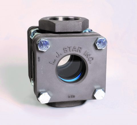 Sight Flow Indicators: Industrial: Standard Industrial Sight Flow Indicator (View-Through), Threaded Mount