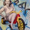 "Boo-Boo Bike   24""x30""   Oil on Canvas   Big Wheel"