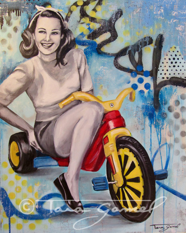 "Boo-Boo Bike | 24""x30"" 