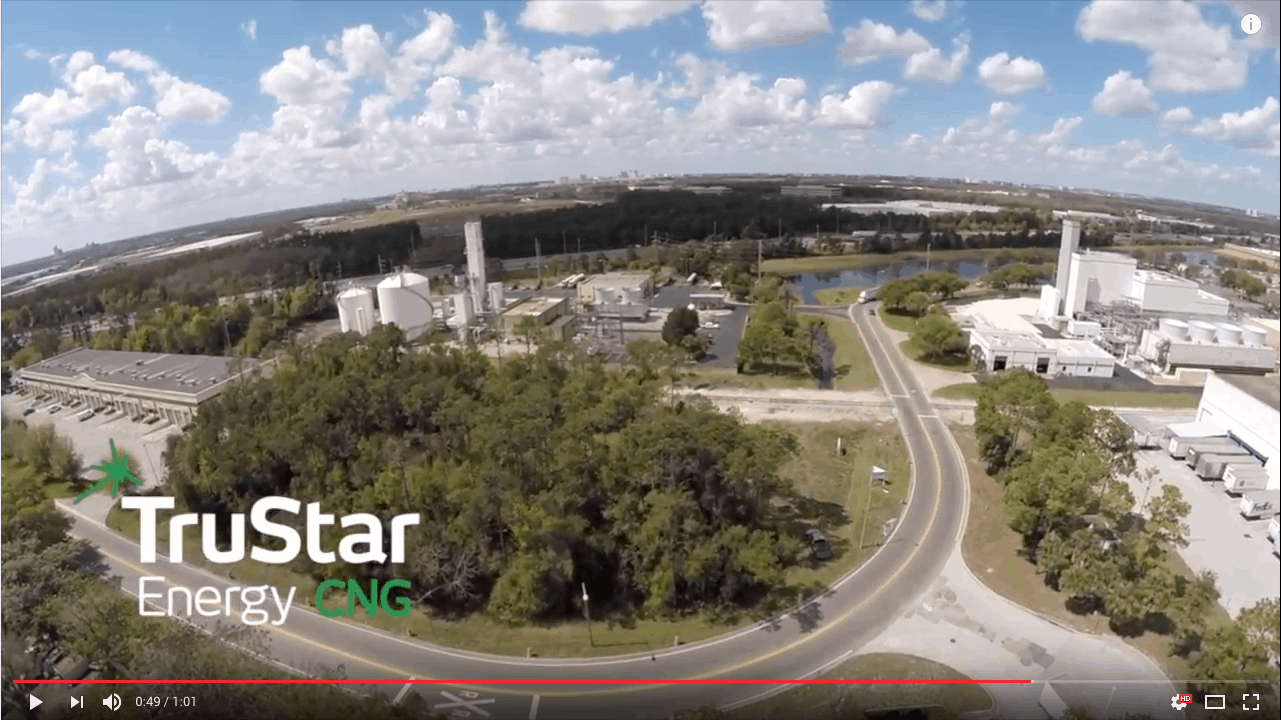 TruStar Energy Aerial Fly By Of New Orlando Public CNG Station