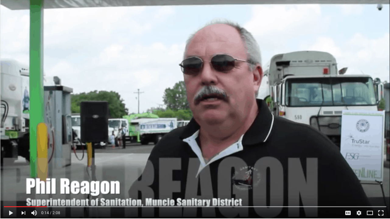 Phil Reagon Discusses Muncie Sanitary District's New CNG Fueling Station by TruStar Energy