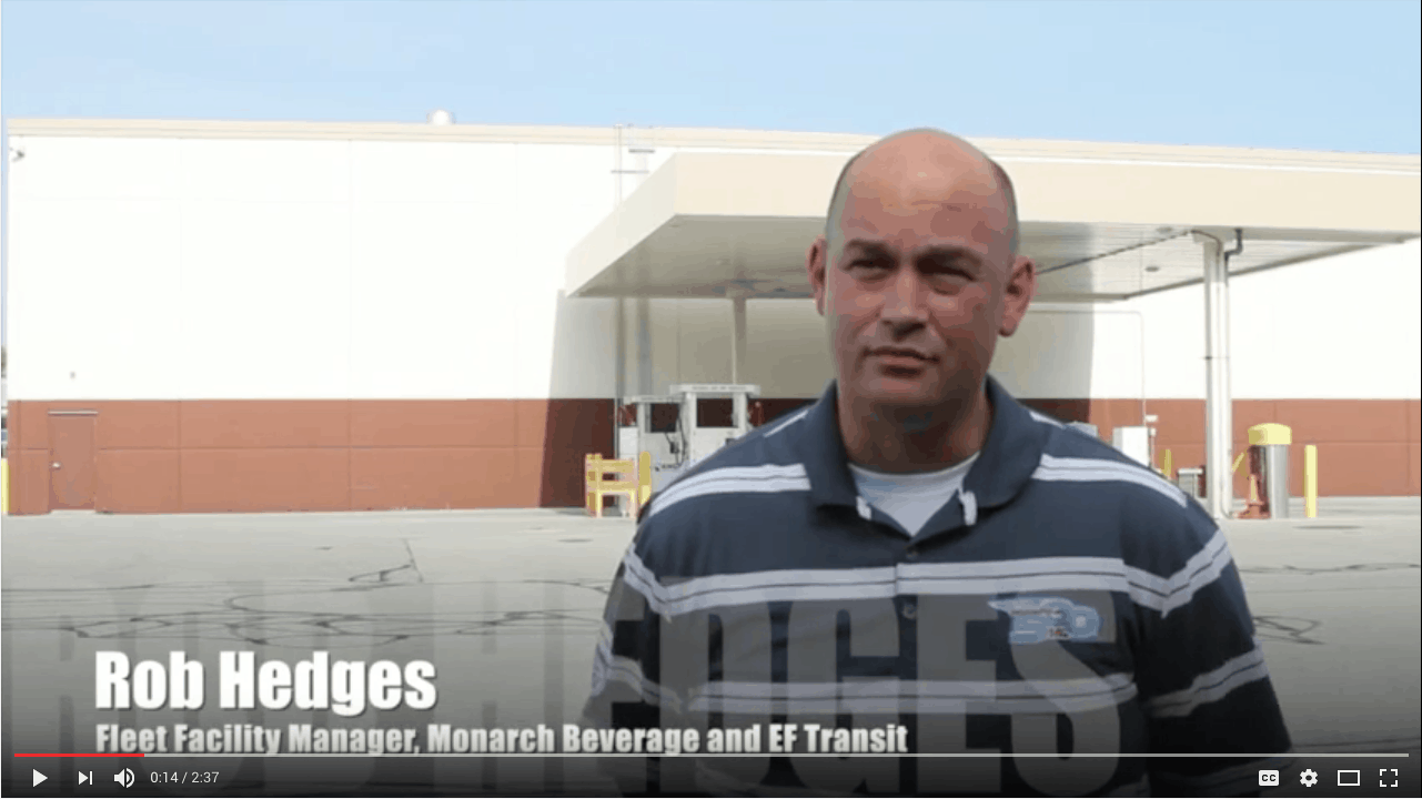 TruStar Energy Builds CNG Fueling Station For Monarch Beverage in Indianapolis, IN.