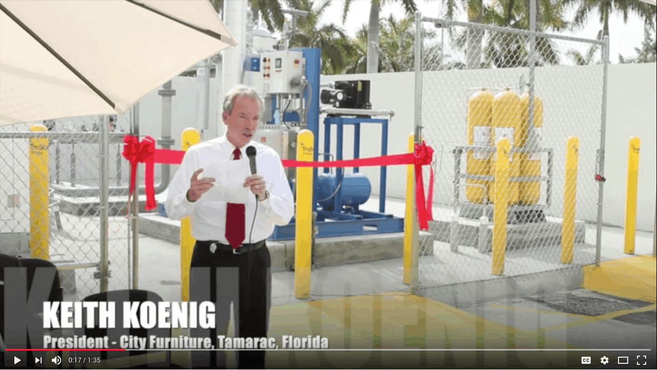 City Furniture New CNG Fueling Station by TruStar Energy