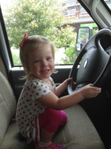 annabelle driving the bookmobile
