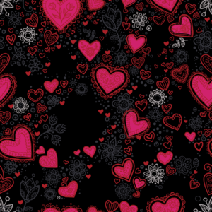 Miami Happy Valentines day textile print
