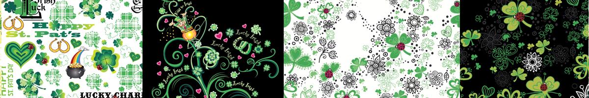Miami St. Patrick's Day Whimsical textile print design illustration