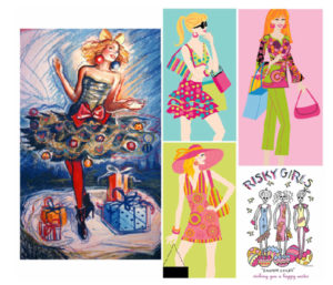 Miami stylized fashion illustration