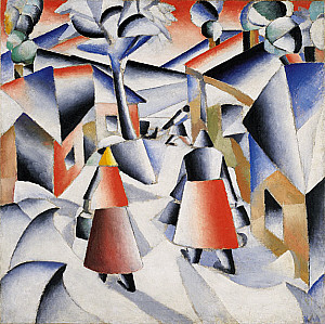 Kazimir Malevich (Morning in the village after snowstorm) 1912 image via Guggenheim.org