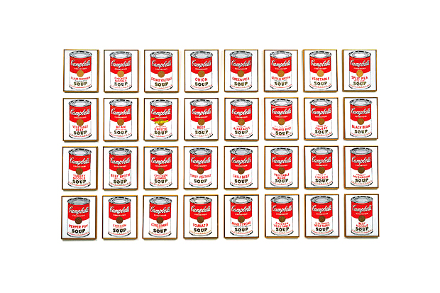 ANDY WARHOL CAMPBELL'S SOUP CANS AT THE MOCA