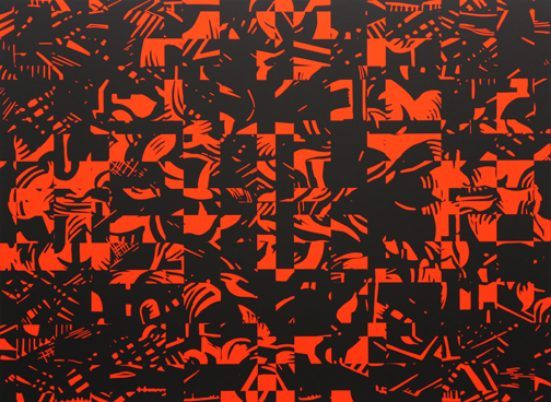 Blast for Races 1, 2011  53 x 72 in / 134.6 x 182.9 cm, acrylic on linen