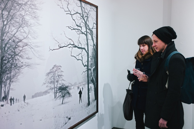 At the Opening for Nicolai Howalt and Trine Søndergaard at Bruce Silverstein