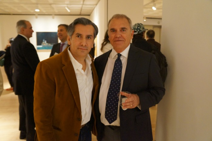 Vincent Zambrano (Artist-Filmaker) right and Julio Larraz