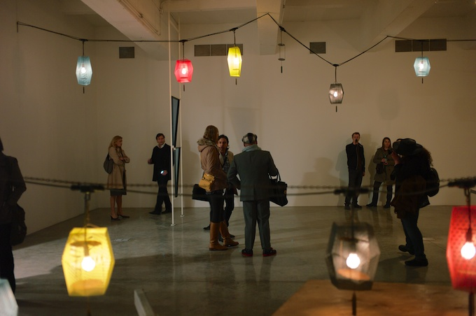 Getting lost amidst the lights at Tanya Bonakdar Gallery (photo by Max Noy)