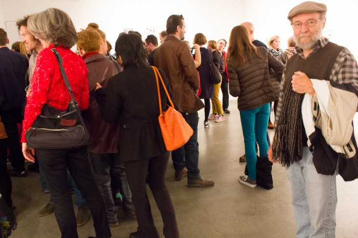 Guests at the opening for Canan Tolon at Von Lintel Gallery